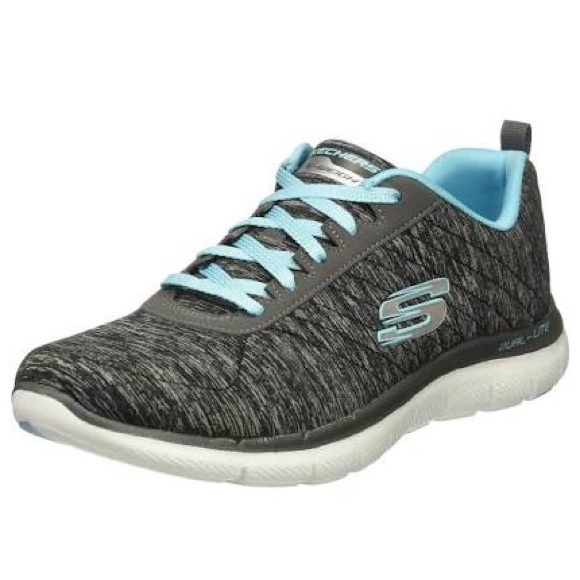 SKETCHERS FLEX APPEAL 2.0 SNEAKERS Gray Blue